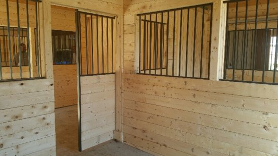 black steel horse stall kits